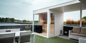 Luxury Sauna with a Roof Extension (BE) 1